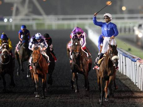Monterosso ridden by Mickael Barzalona wins the 2012 Dubai World Cup