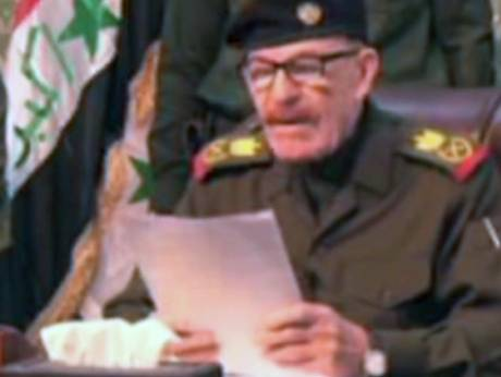 A video showing Ezzat Ebrahim Al Douri