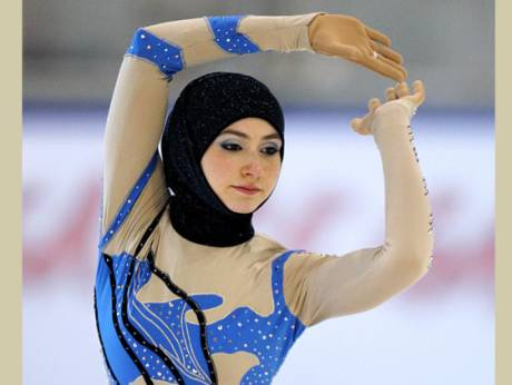 Zahra Lari performs during the figure skating European Cup