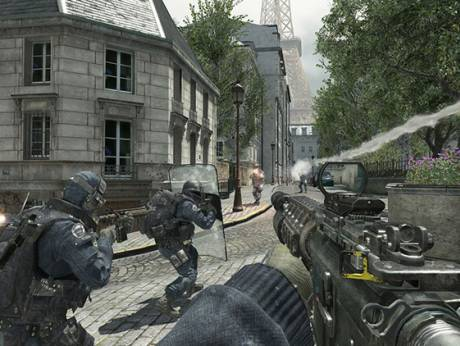 Video game image of Call of Duty