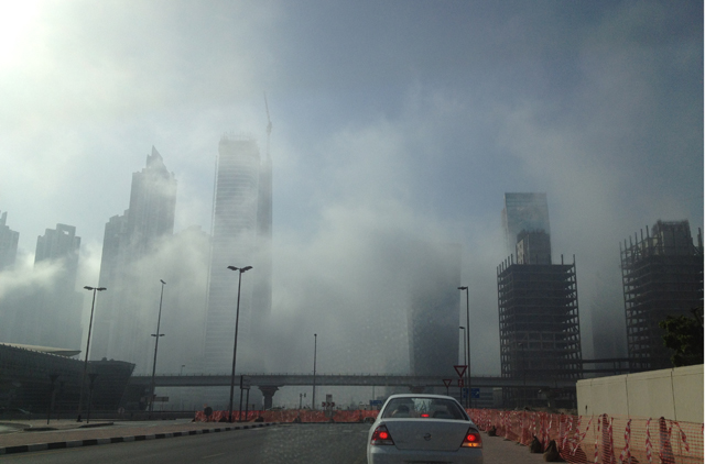 Mist and fog which settled across Dubai early Friday morning