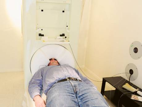 The MEG machine is a non-invasive brain scanner able to detect minute magnetic fluctuations