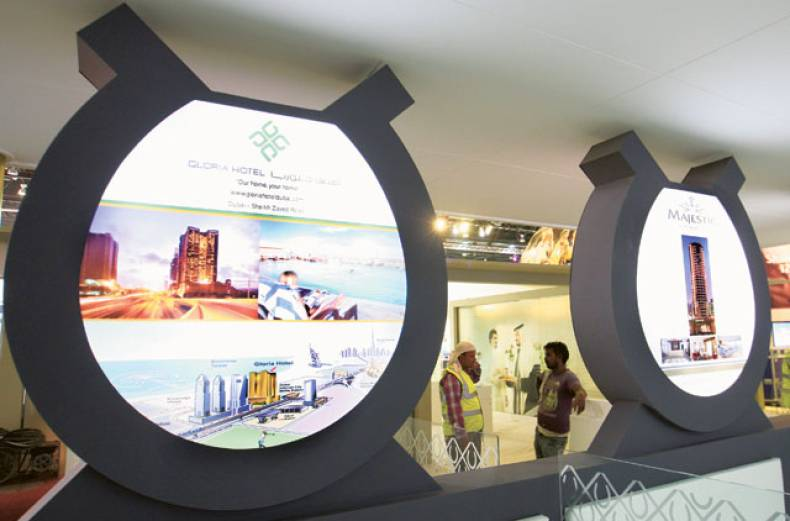 preparations-for-the-arabian-travel-market-at-the-dubai-world-trade-centre