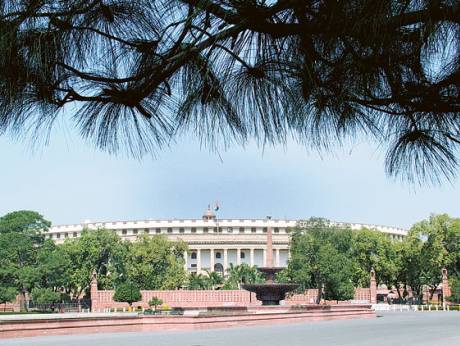 Indian Parliament House in New Delhi