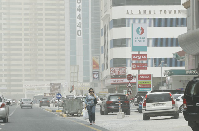 Hot and hazy weather in the UAE