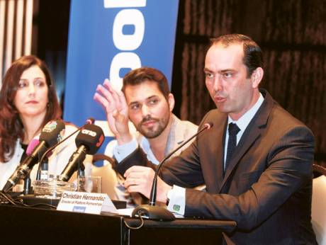 Joanna Shields, vice-president for Europe, Middle East and Africa, Jonathan Labin