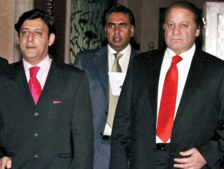 Nawaz Sharif, former Prime Minister of Pakistan with Javed Malik