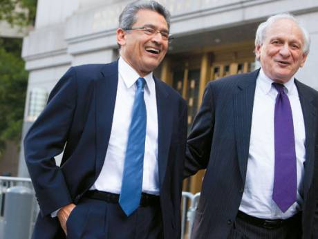 Former Goldman Sachs Group Inc board member Rajat Gupta and lawyer Gary Naftalis