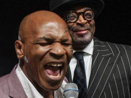 Film director Spike Lee with boxing's Mike Tyson