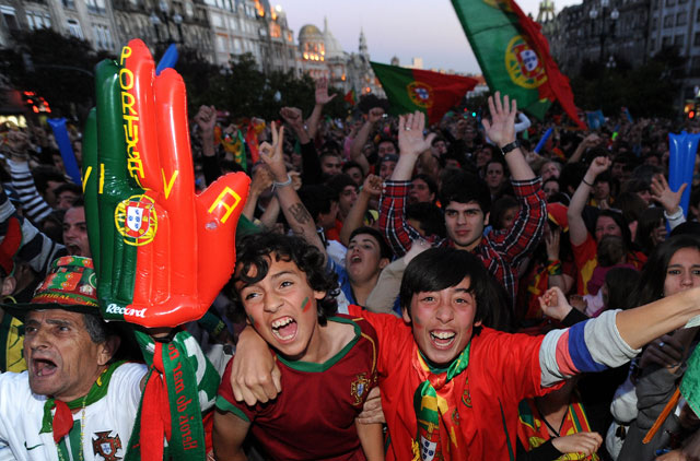 Portugal's soccer fans celebrate