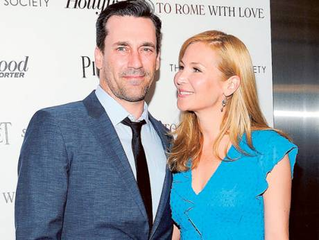 Jon Hamm and his girlfriend Jennifer Westfeldt