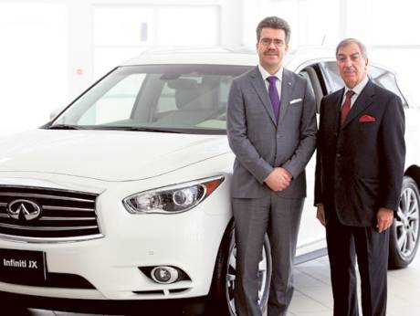 Juergen Schmitz, general manager of the Infiniti Business Unit, and Michel Ayat