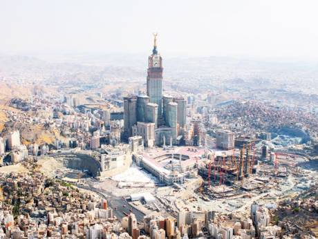 A general view of the Grand Mosque in the city of Makkah