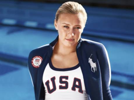 US Paralympic swimmer Jessica Long in her Olympic team uniform