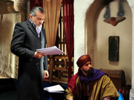 A scene from MBC 1's Ramadan drama series Omar, on the life of Omar Bin Al Khattab