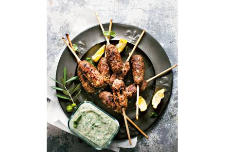 Lamb koftas with mint yogurt