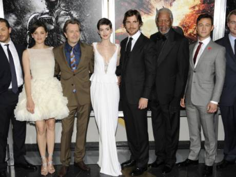 At the world premiere of The Dark Knight Rises