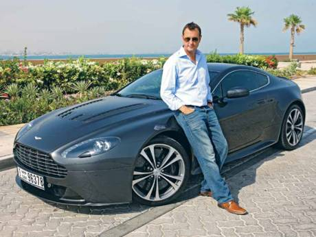 Malcolm Wright with his  Aston Martin Vantage V12