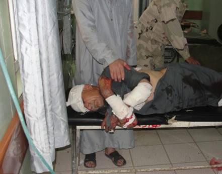 After a bomb attack in Madain
