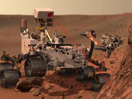 An artist's concept of Nasa's Mars Science Laboratory spacecraft