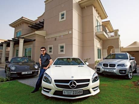 Salim Mohammed with his classy cars