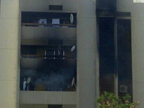 Fire breaks out at a residential building in Fujairah