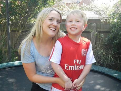 Kate Willoughby with her nephew