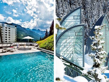 The Tschuggen Grand Hotel in the Swiss Alps