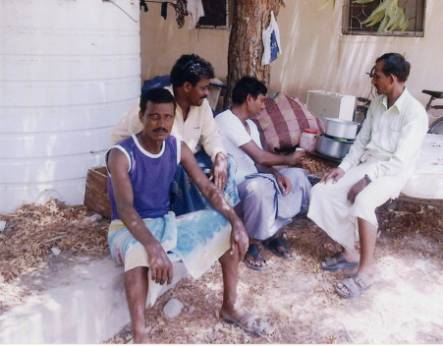 Mohammed Raffiq at a farm in Oman
