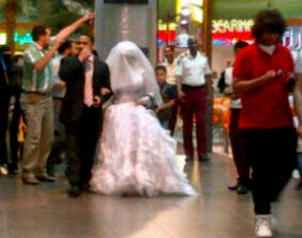 Wedding party in a Saudi mall