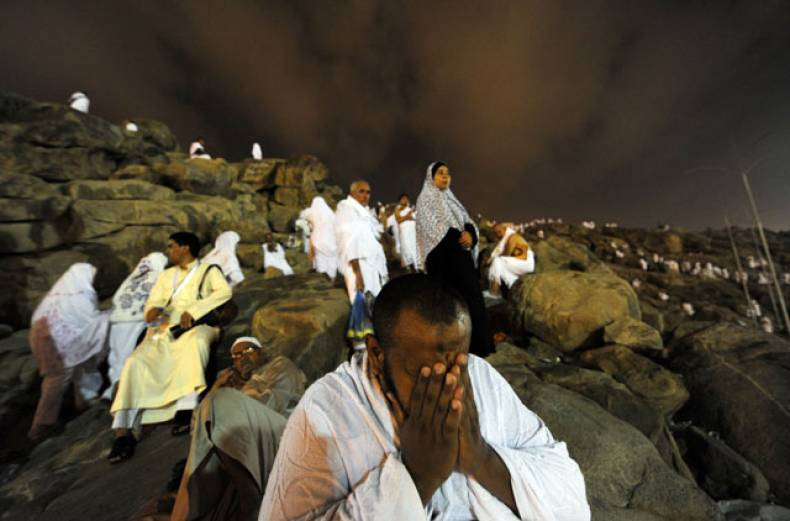 a-pilgrim-prays-on-mount-arafat-near-the-holy-city-of-makkah