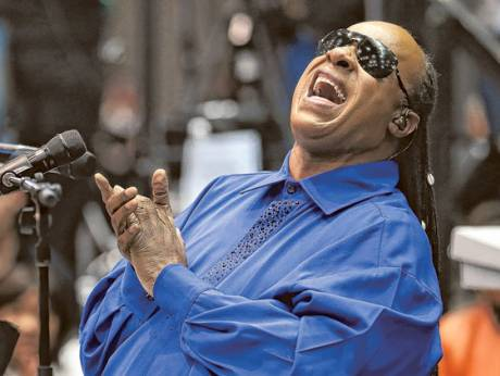 Soul music legend Stevie Wonder