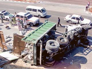 Dubai truck accidents killed 15
