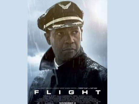 Denzil Washington in the movie Flight