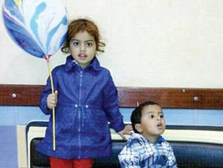 Orphaned children Jannat and Mohammad
