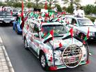 People participate in the Spirit of the Union Parade at Yas Island in Abu Dhabi to celebrate 41st National Day of the UAE.