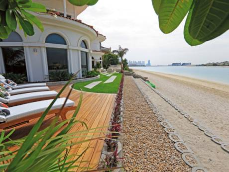 Palm Jumeirah landscape with curves in all the right places