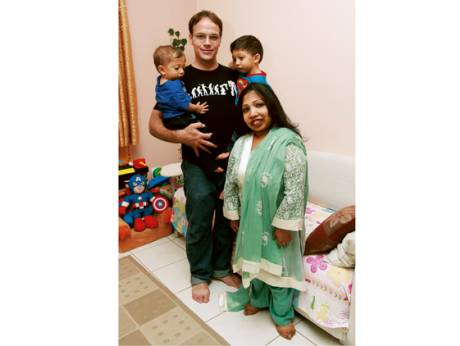 Neena Nizar with her family