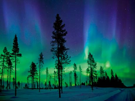 The lights in fantastic Lapland