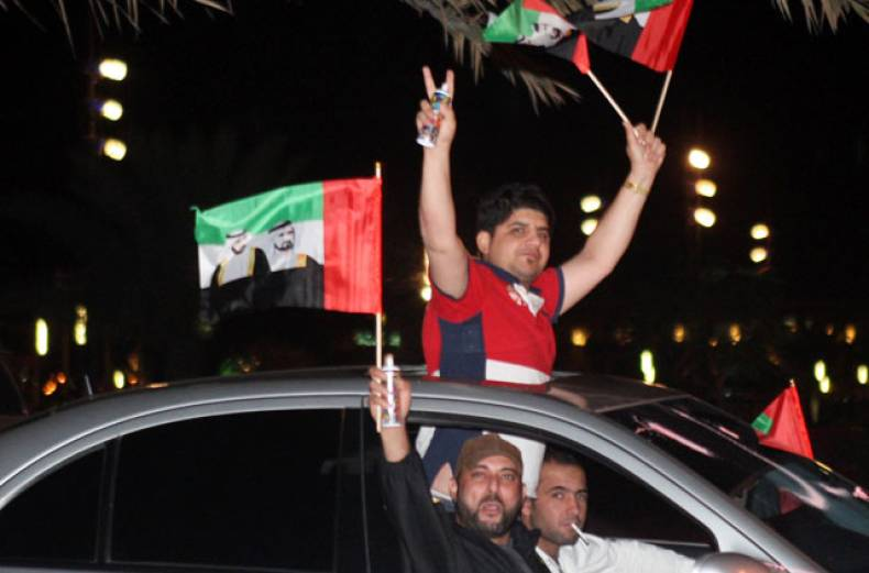 uae-supporters-celebrate-at-buhaira-corniche-in-sharjah