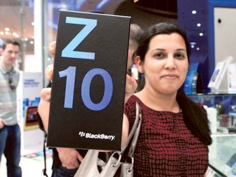 Meenal Mahajan with her new BlackBerry Z10