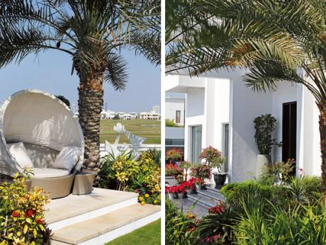 Emirates Hills garden with contemporary design