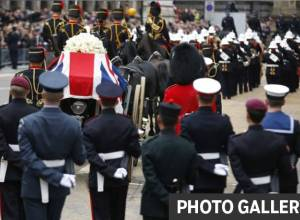 Margaret Thatcher makes her final journey