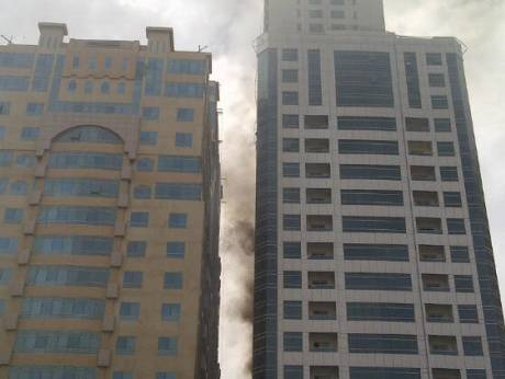Fire in a Sharjah building