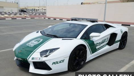 Luxury sports cars in Dubai Police fleet