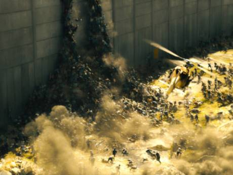 A scene from World War Z