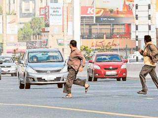 3,943 jaywalkers fined in Sharjah