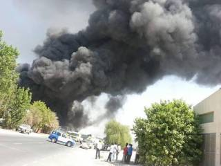 Fire ravages two Al Quoz warehouses
