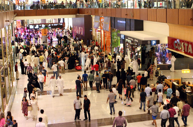 The crowds thronged into The Dubai Mall