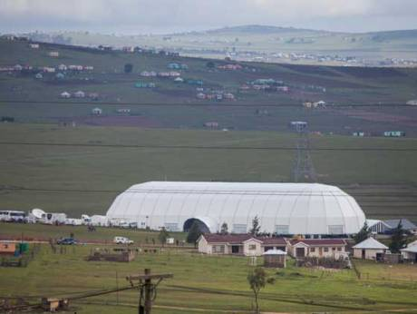 Nelson Mandela S Village Qunu The Focus Of The World